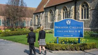 Pupils at Brighton College