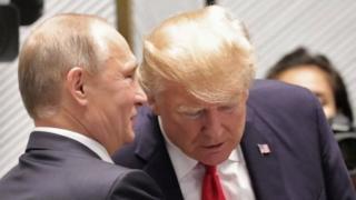 Vladimir Putin iyo Donald Trump