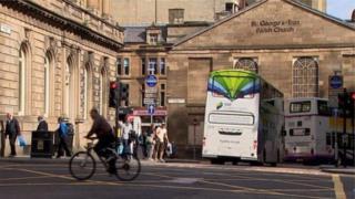 Glasgow bus lane