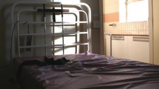 Mental health unit bed
