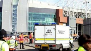 A bomb disposal unit attended Manchester United's Old Trafford ground on Sunday