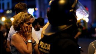 Barcelona dehşet içindeki turist