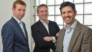 John Dolan of CCI, Paul McElvaney of Learning Pool and Jonathan Cosgrave of CCI