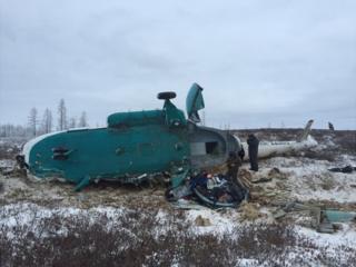 Разбившийся вертолет