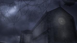 Церковь ночью под Луной