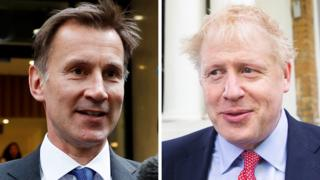 Composite of Jeremy Hunt and Boris Johnson