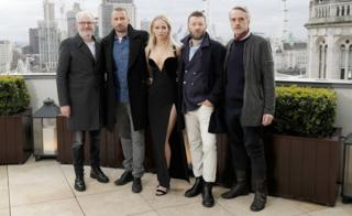 Francis Lawrence, Matthias Schoenaerts, Jennifer Lawrence, Joel Edgerton and Jeremy Irons