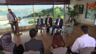 حلقة خاصة من نقطة حوار صورت، في اسطنبول تركيا، ضمن موسم تجاوز الاختلافات التي تنظمه بي بي سي