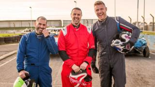 Chris Harris, Paddy McGuinness and Freddie Flintoff