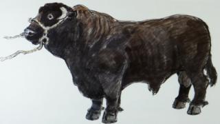 Llun gan yr artist Kyffin Williams