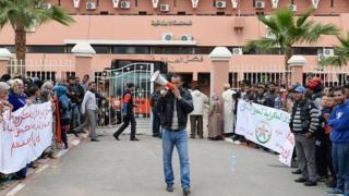Des marocains protestent en marge d'un procès d'un homosexuel