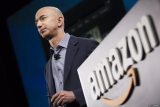 Jeff Bezos at an Amazon launch