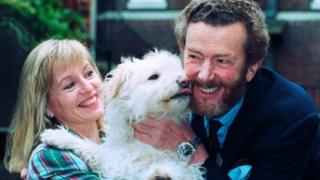 David Cobham and his wife Liza Goddard in 1993