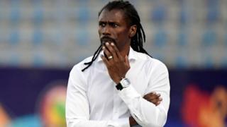 Aliou Cissé, le sélectionneur de l'équipe nationale du Sénégal.