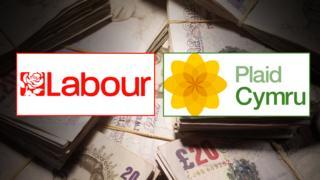Labour and Plaid Cymru budget graphic