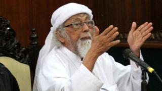 Abu Bakar Ba'asyir a kotu a 2016.
