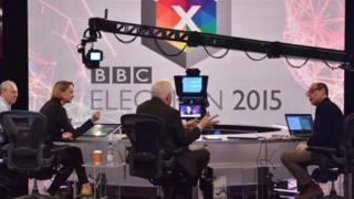 A rehearsal for the BBC's 2015 general election coverage