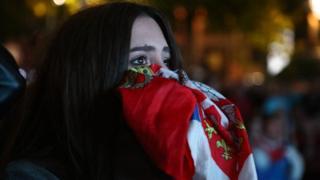 Девојка љуби заставу, Београд, 27. јун 2018.