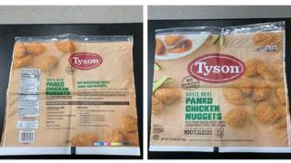 The recall refers to bags of 5 kg of white meat nuggets coated with panko bread crumbs