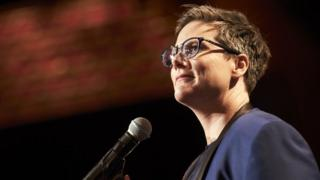 Hannah Gadsby in her Netflix comedy special Nanette