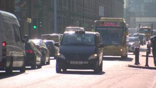 Vehicles on Deansgate