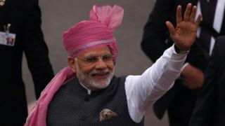 India's Prime Minister Narendra Modi attends the Republic Day parade in New Delhi, 10 February 2017