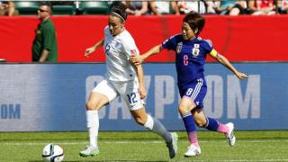 Lucy Bronze in the game against Japan