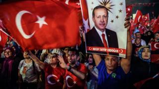 Pro-Erdogan rally in Istanbul, 23 Jul 16