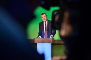 in_pictures Plaid Cymru leader Adam Price speaks during the launch of his party's manifesto