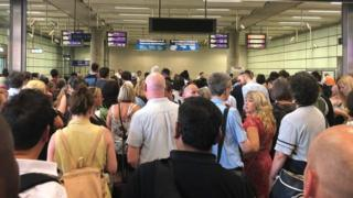 Commuters faced disruption at London St Pancras