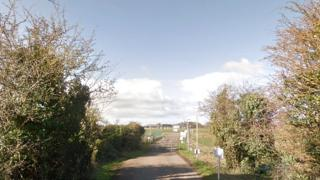 Entrance to Aston Down Airfield