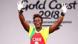 Cameroon weightlifter