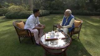 Akshay Kumar iyo Narendra Modi