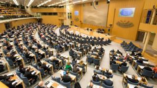 Sessão do Parlamento sueco