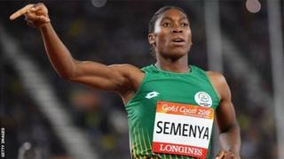 Caster Semenya est double championne du 800 m (en 2012 et 2016).