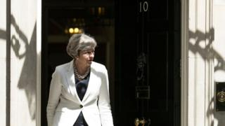 Theresa May at Downing Street