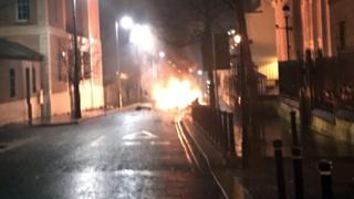Car on fire in Londonderry