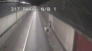 The 'jogger' was seen in Blackwall Tunnel