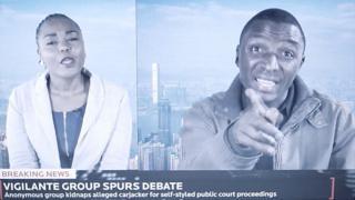 A scene from the popular Kenyan web series Tuko Macho