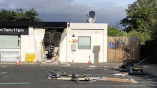 Destroyed shop front