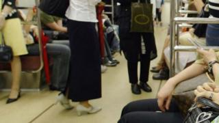 women on a train