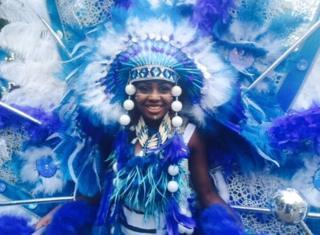 Woman at carnival