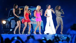 The Spice Girls performing at the closing ceremony of the 2012 London Olympics
