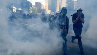 Protest against Nicolas Maduro in 2017