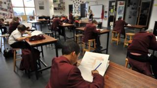 Schoolchildren in a classroom