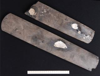 An image from a press release by Viborg Museum shows a flint axe dug up near the Danish town of Skive in April 2016