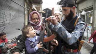 "Боевик ""Фронта ан-Нусра"" в Сирии"