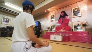 Aum cultist in Japan - 1999 file pic