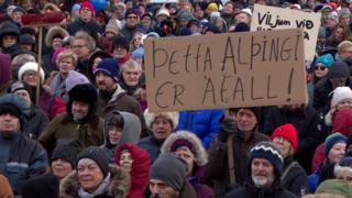 Protest in Reykjavik, 1 Dec 18