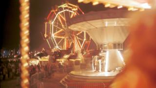Stock image of a fairground